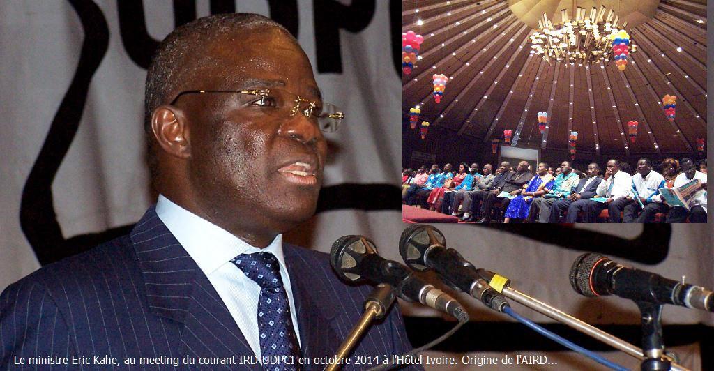 AIRD: Adresse du président  Eric  KAHE à l'occasion de la rencontre mensuelle de Novembre 2015
